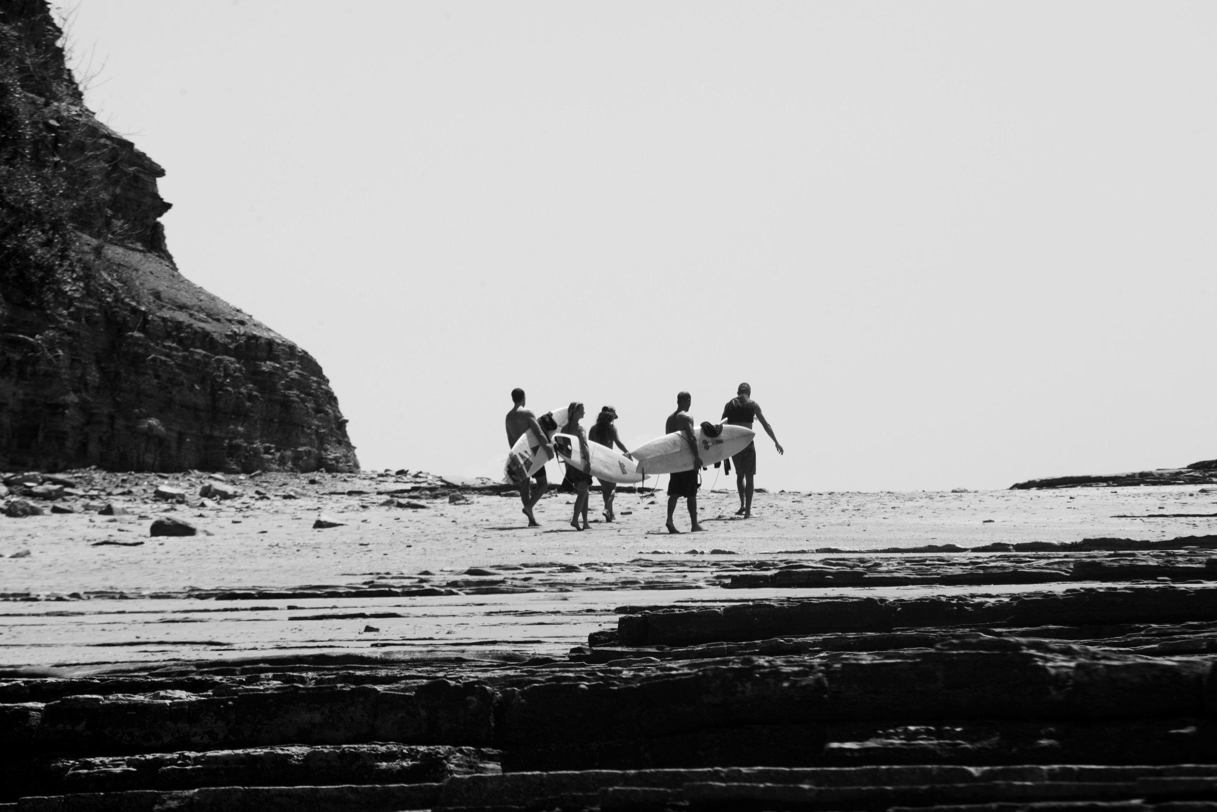 surfers popoyo salt water