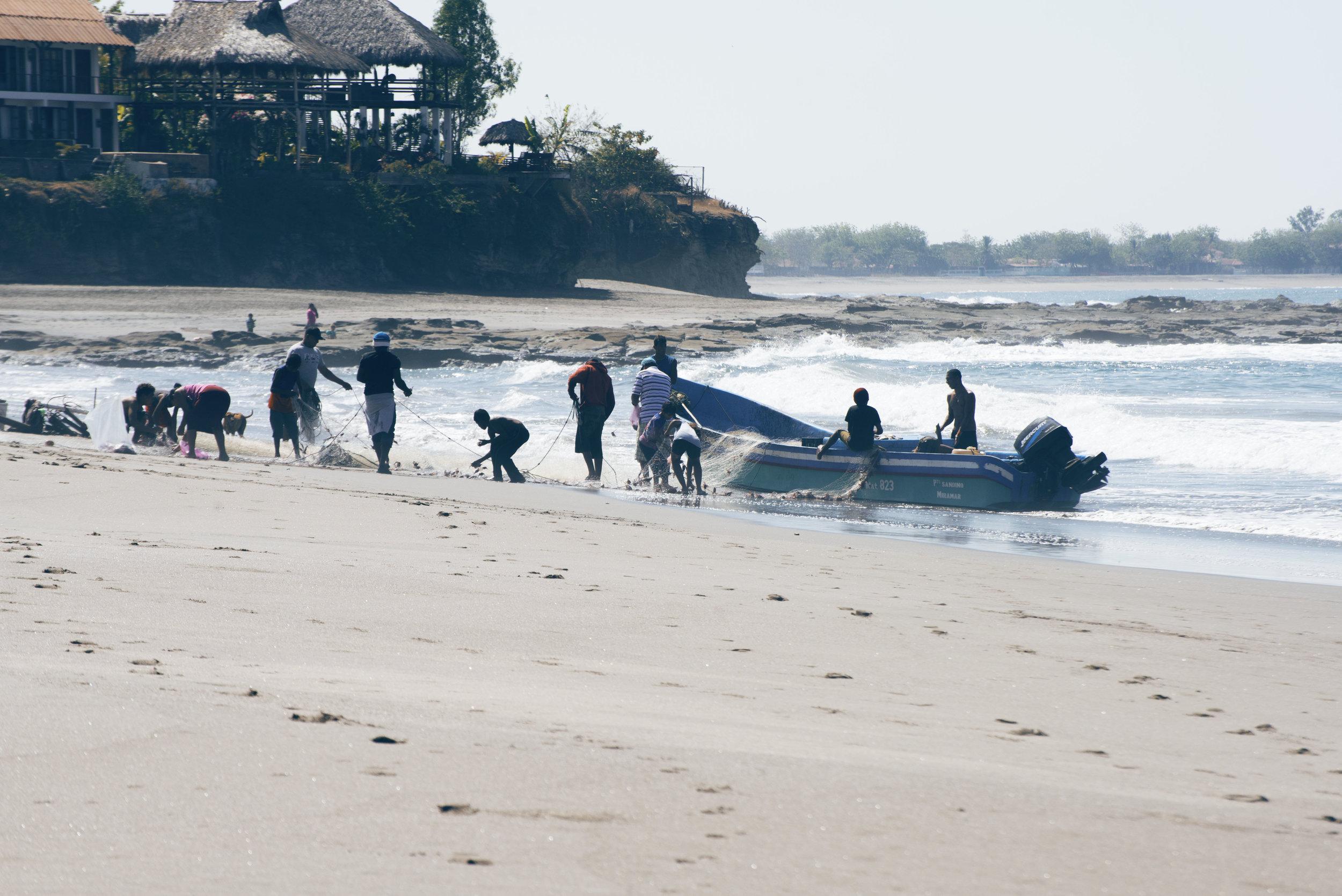 salt water Nicaragua fishermen