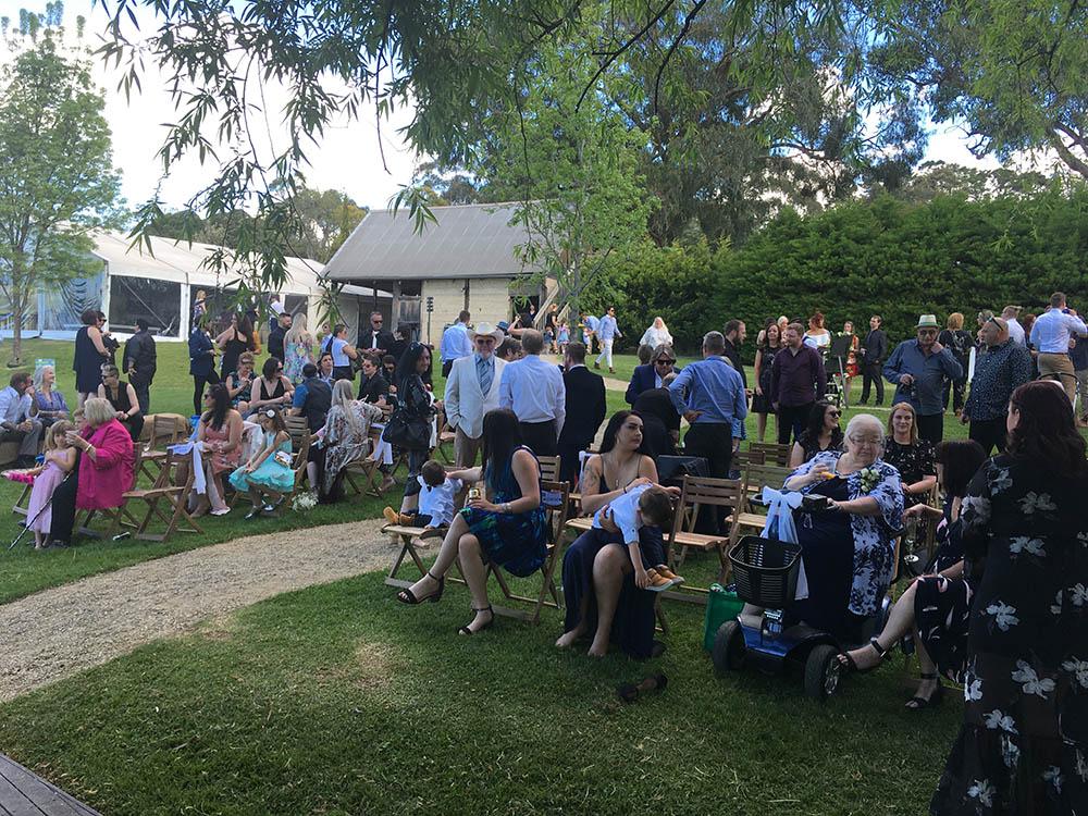Just before ceremony time - Hedgend Maze Yarra Valley Melbourne