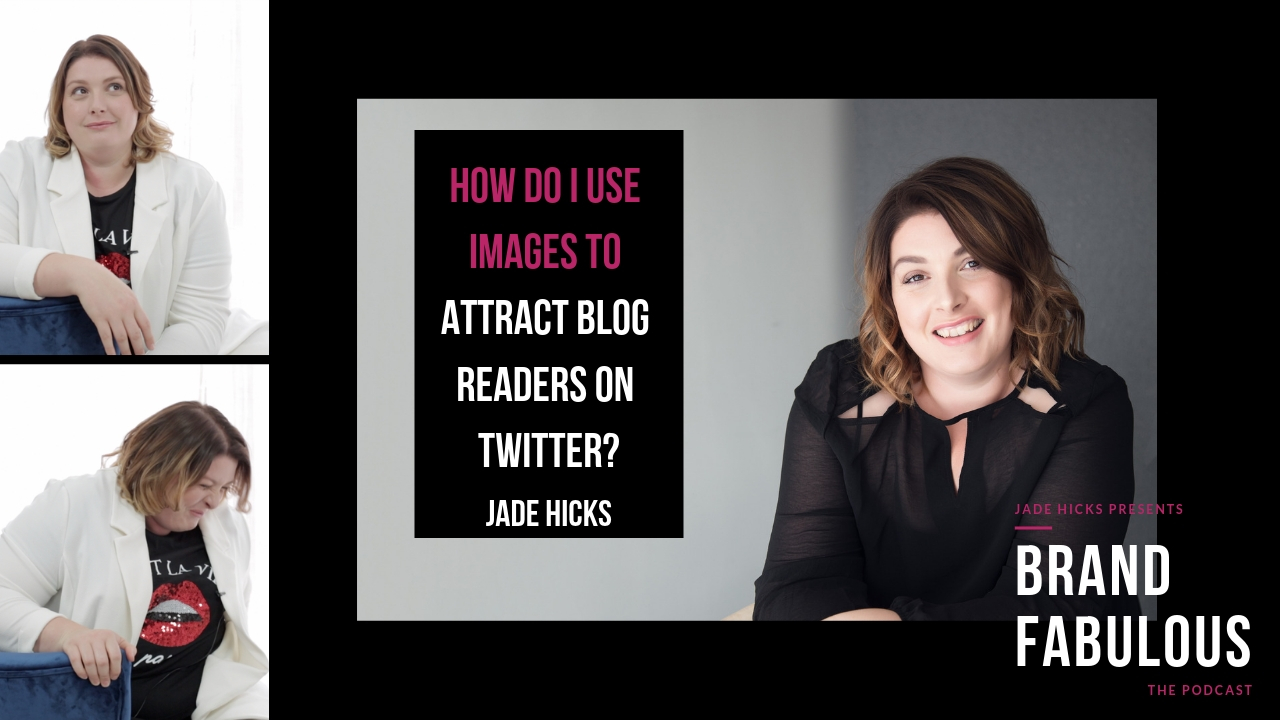 How do I use images to attract blog readers on twitter?