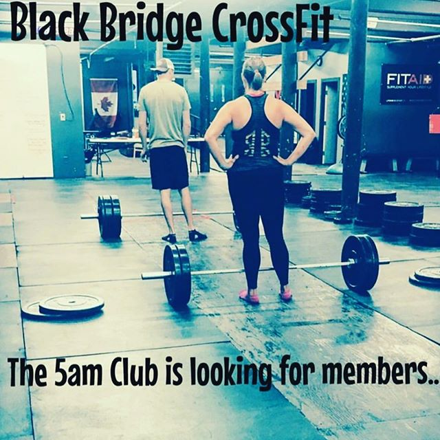 We have a 5 am class a couple of days a week. Come check it out, if you are up for it! #getit #5amclub #crossfitisfun #eveninearlymorning #canyoumakeit #noteasy #butalways #agoodtime