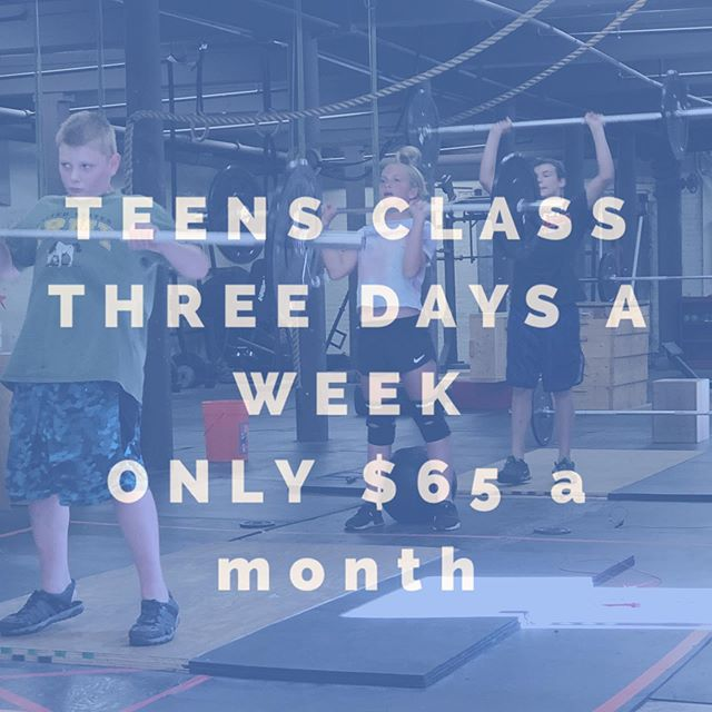We only have three spots left. Sign up today. It's only $65 a month three days a week #getyourkidsactive #teensneedtoworkoutoo #theydohavefun #workingonthepress #getyourkidsinshape