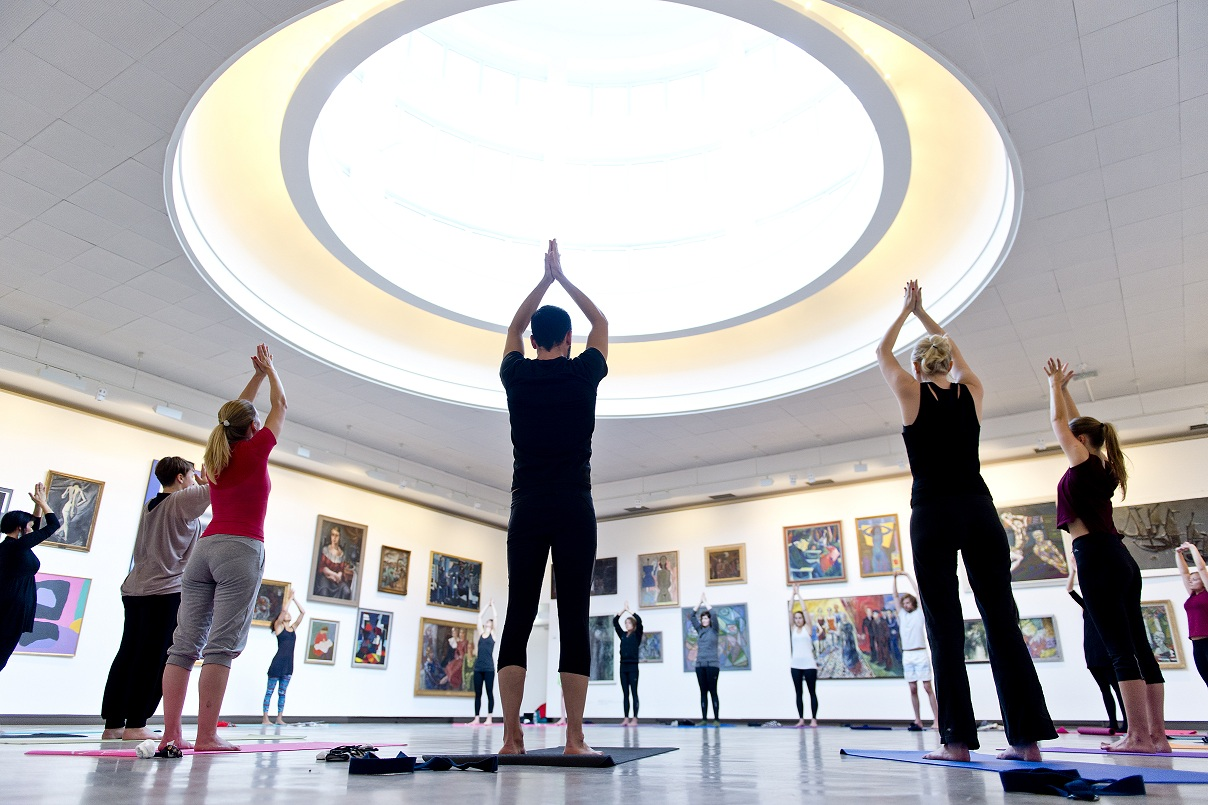 Art + Yoga - at KODE - the Art Museums of Bergen (Norway)