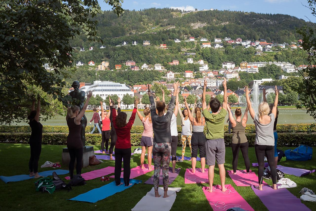Outdoor Yoga in Bergen (Norway) - When we could, we did.