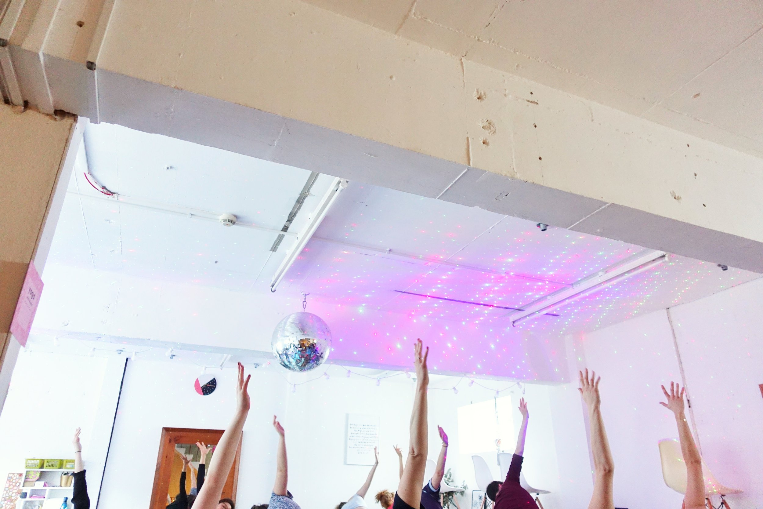 Community Yoga in Brighton (UK) - From chicken shops, a startup school, a women's co-working space, an acting school, a nightclub - we've had sessions in some interesting spaces in the city!