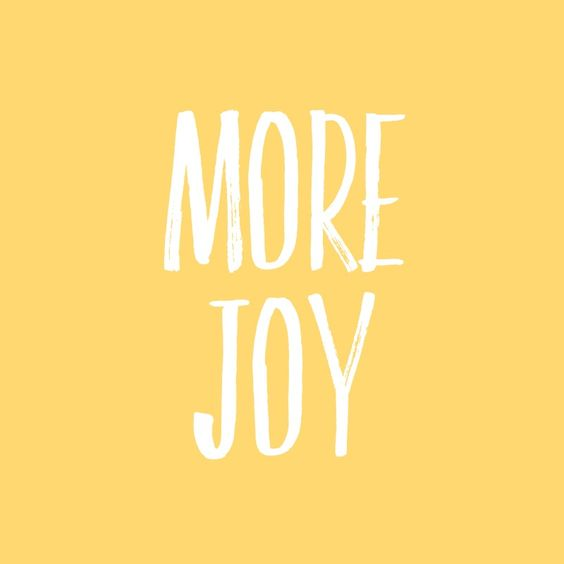 SAY YES TO JOY!
