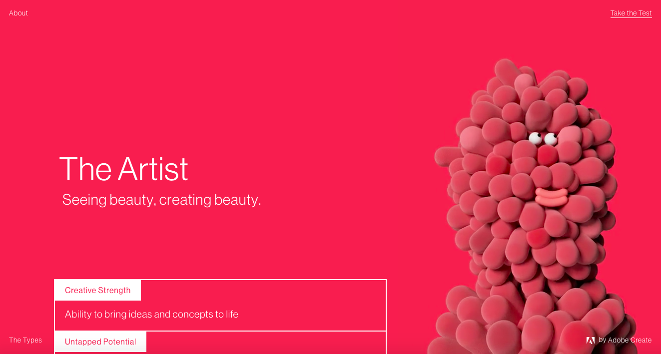 the artist creative type