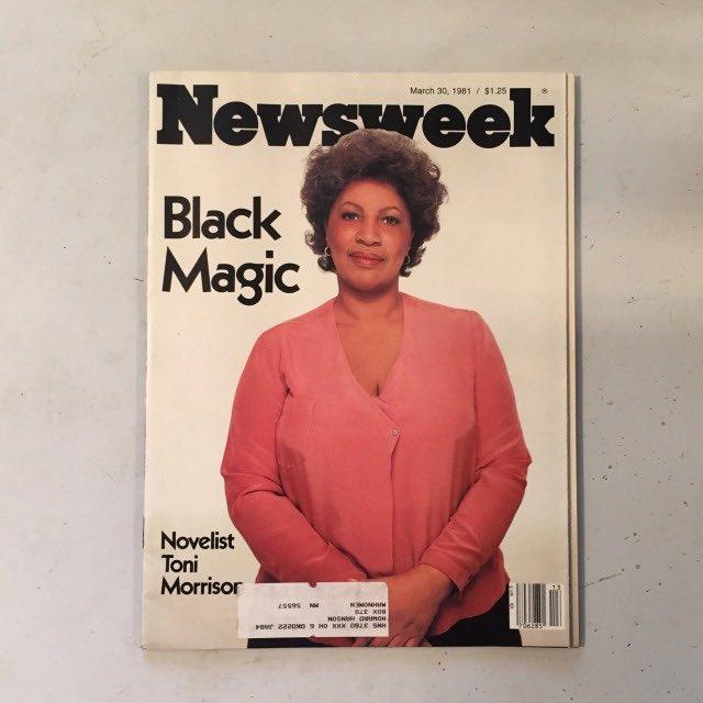 Toni Morrison by Richard Avedon for newsweek (March 30, 1981)