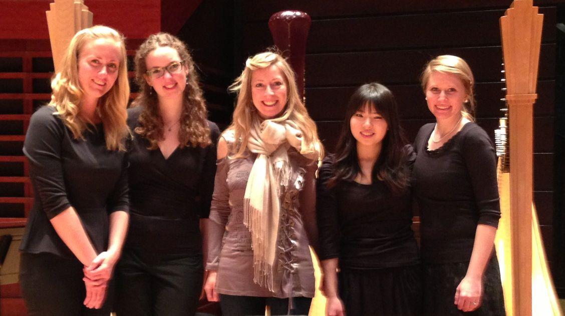 Performing with the Curtis Harp Studio at the Kimmel Center