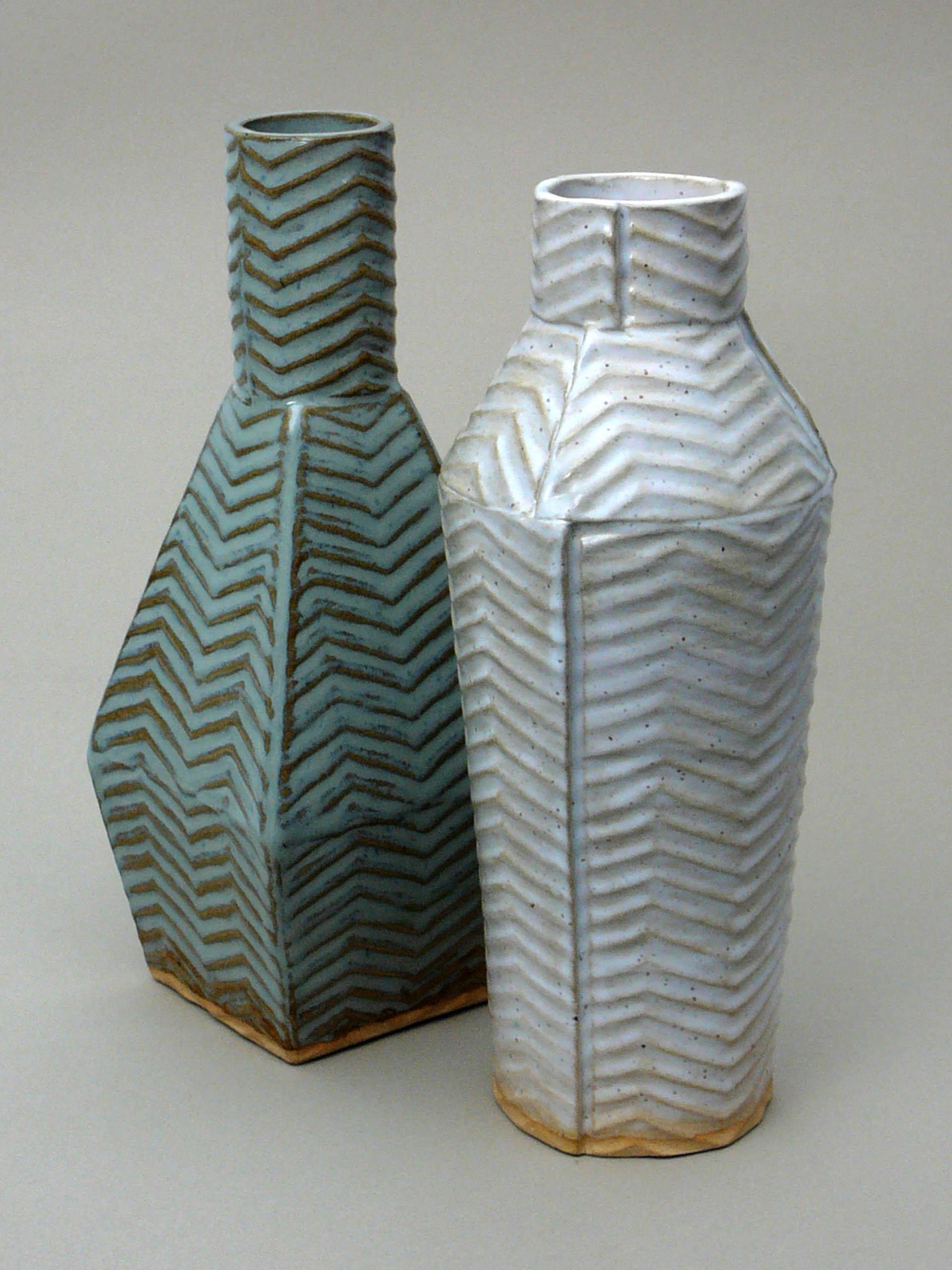Square Vase and Panel Vase