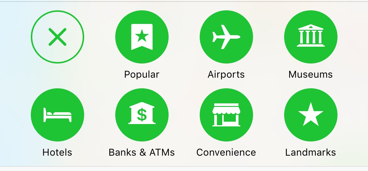 Apple Maps icons