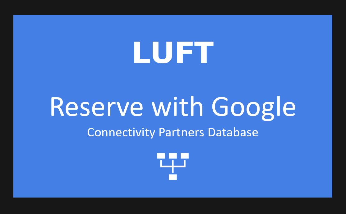 Members gain access to our Reserve with Google Connectivity Partners Database, where we update and segment the growing list of Google partners across ten different attributes, in a searchable online format..