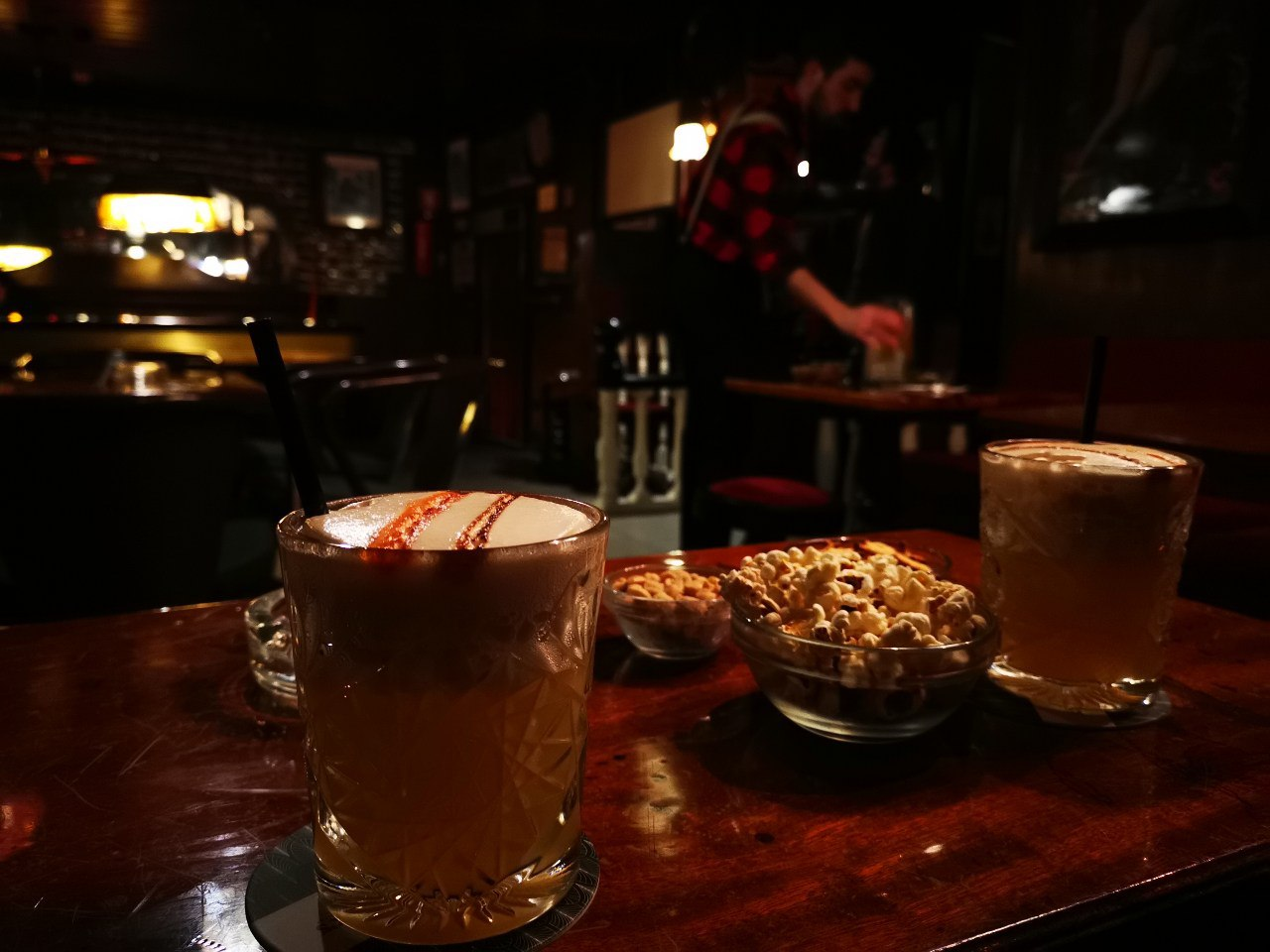 Lisbon stopover pre Madrid. A Whiskey Sour served at Fox Trott. The hilly Lisbon streets hide the best spaces little owner run cocktail bars that have the freedom and motivation to develop truly unique product.