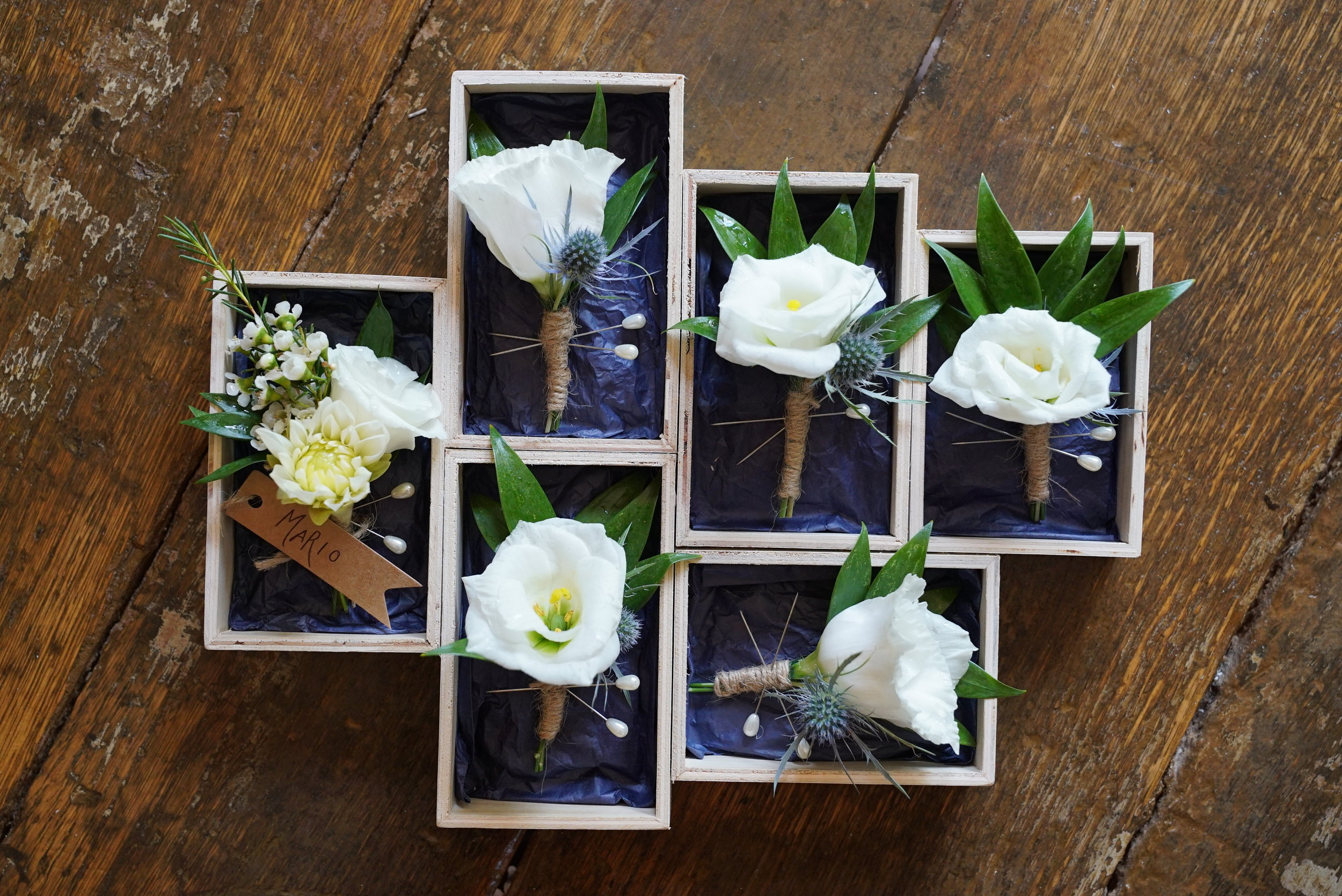 This trinket box made for the perfect delivery tray!