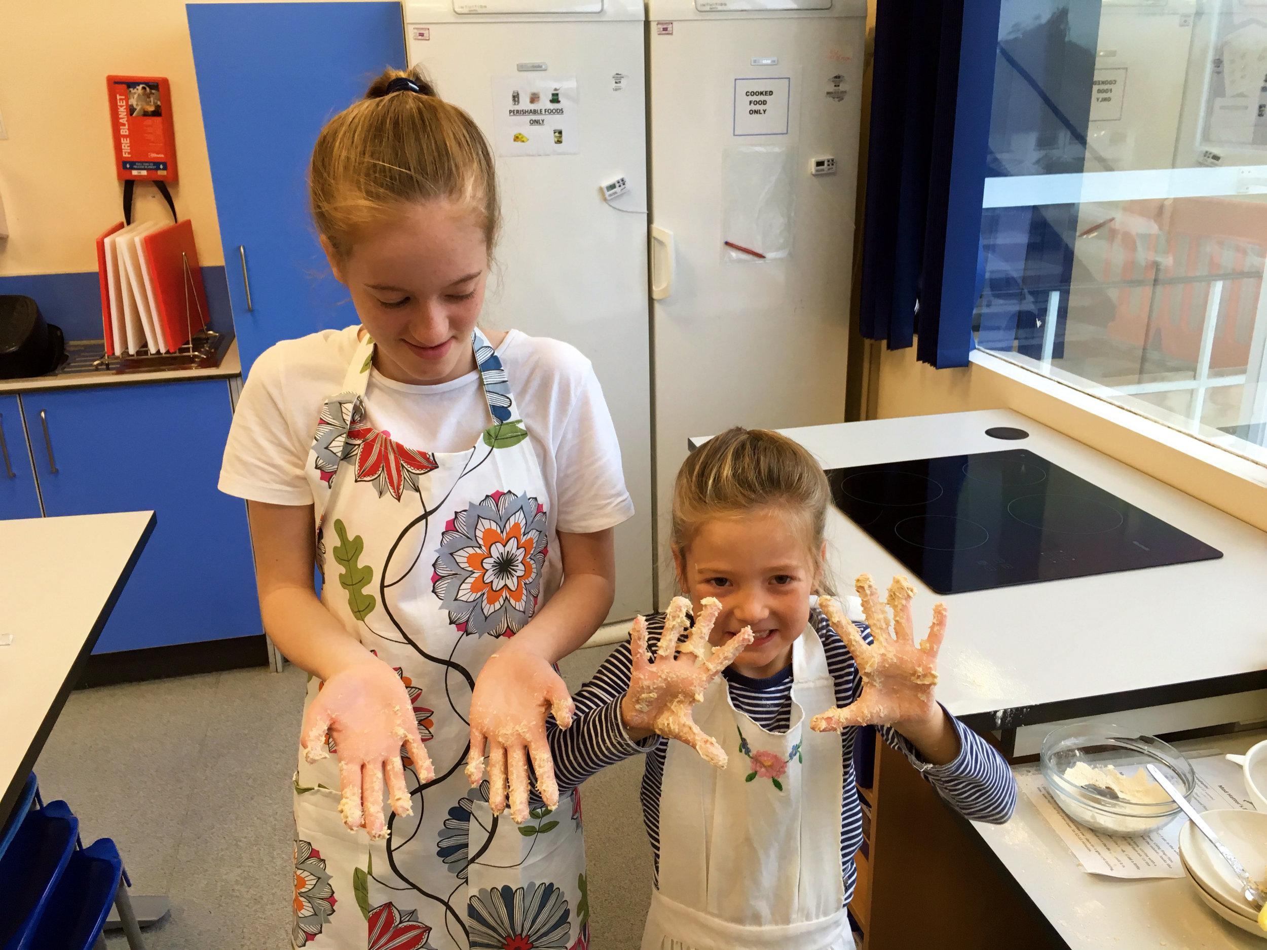 Mucky hands = happy bakers!