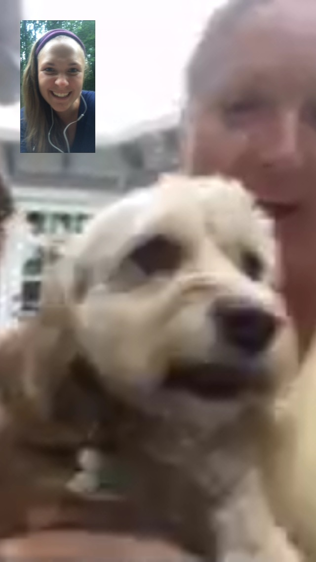Face timing with Bella is always a highlight