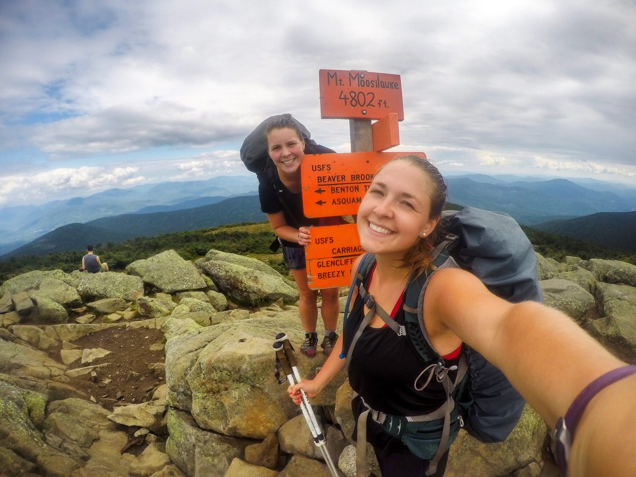 Mt. Moosilauke- our first 4,000 footer since Virginia!