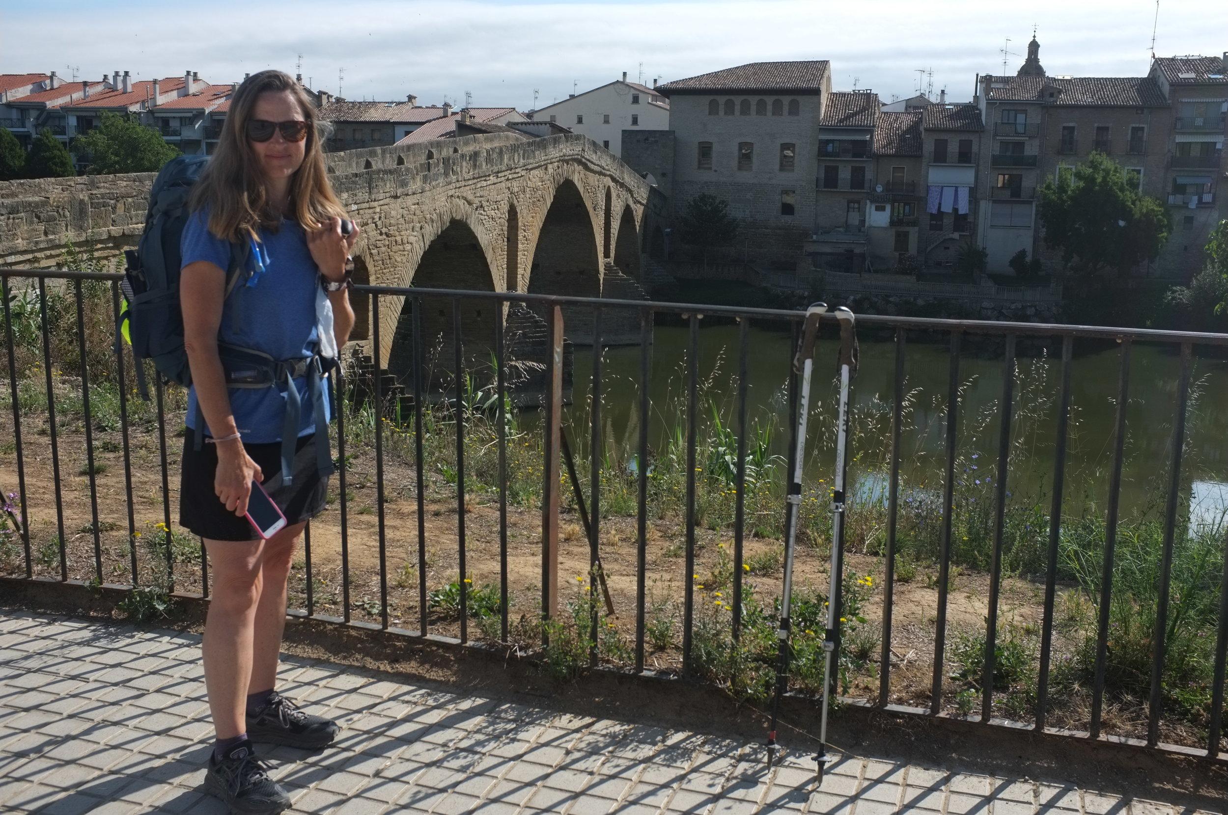 The bridge leaving Puente la Reina