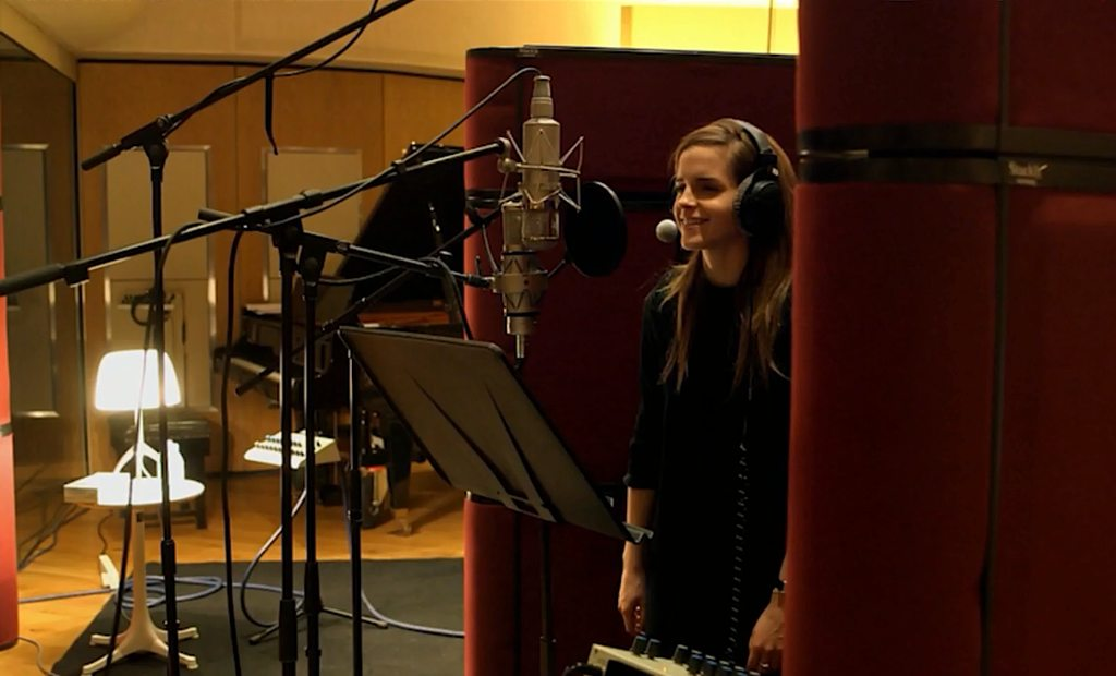 Emma Watson in the Recording Studio Beauty and the Beast.jpg