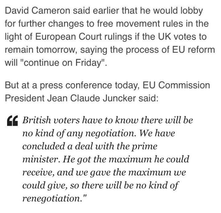 No renegotiation, no reform, take it all, or #LEAVE