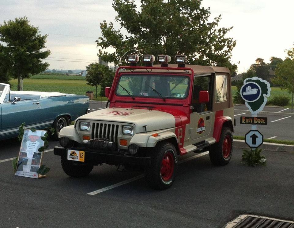 The Jurassic Park Jeep will be here too!