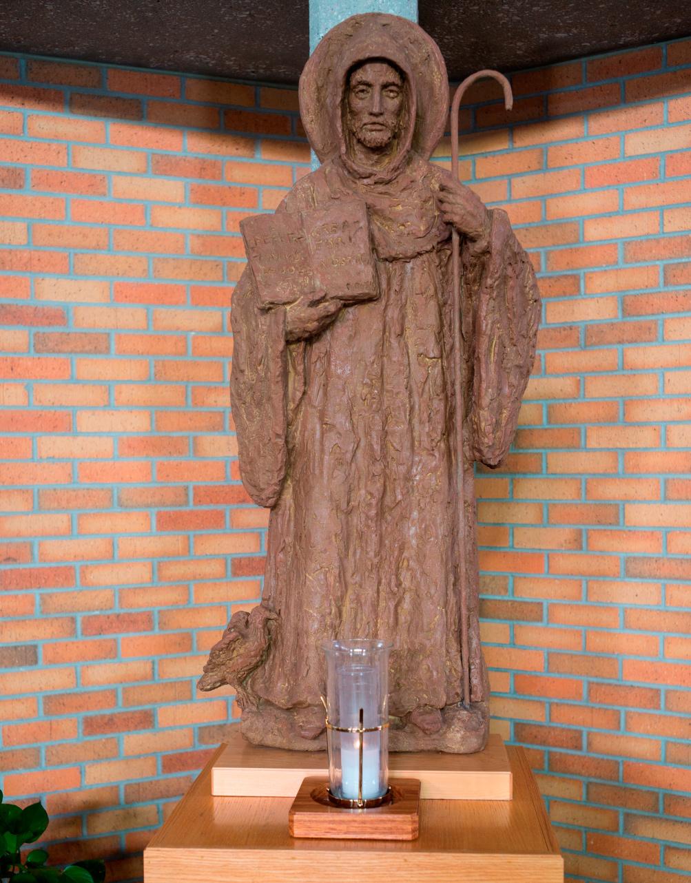 St. Benedict Statue in the Chapel