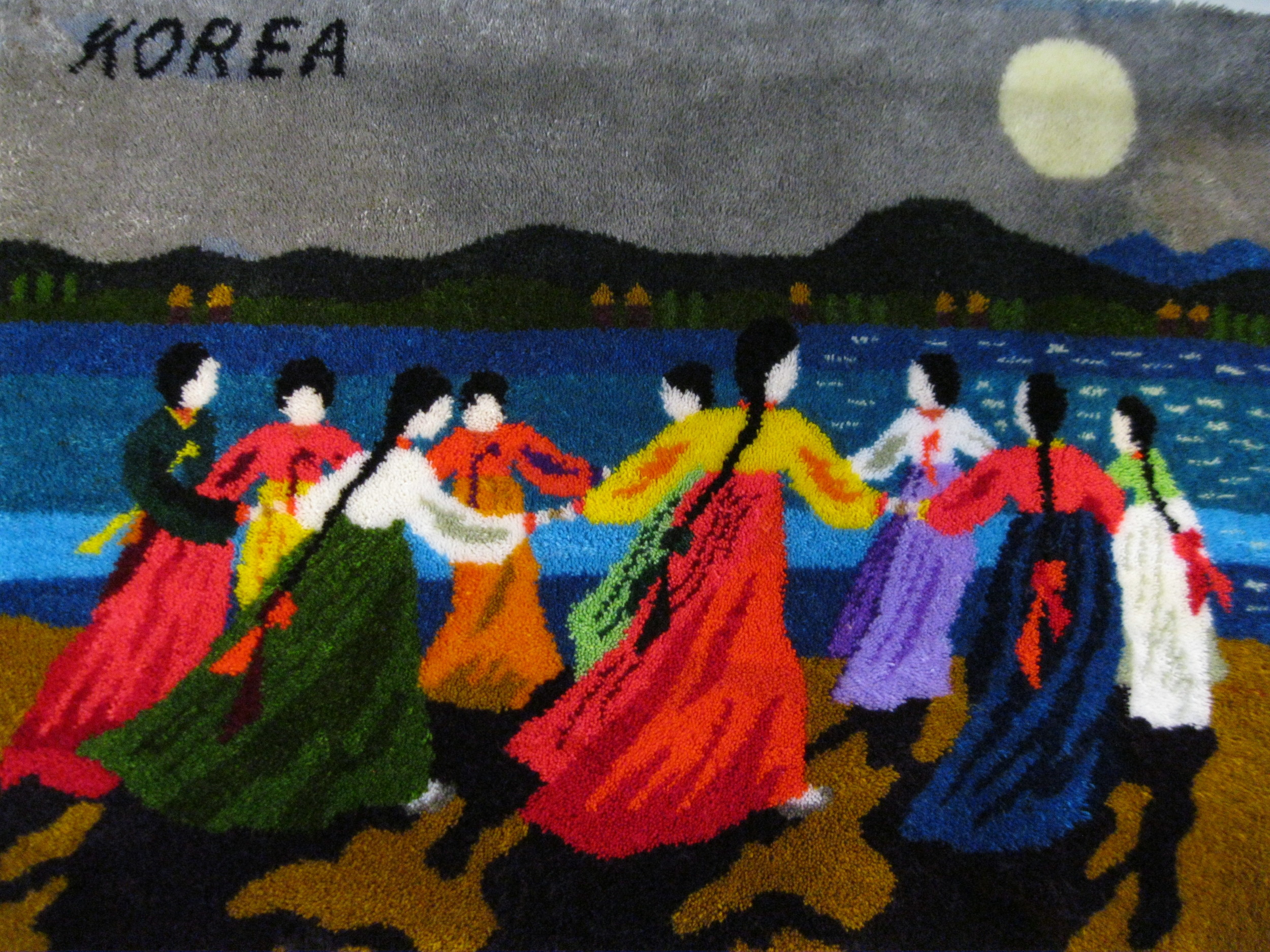 Korean Moon Dance Wall Hanging
