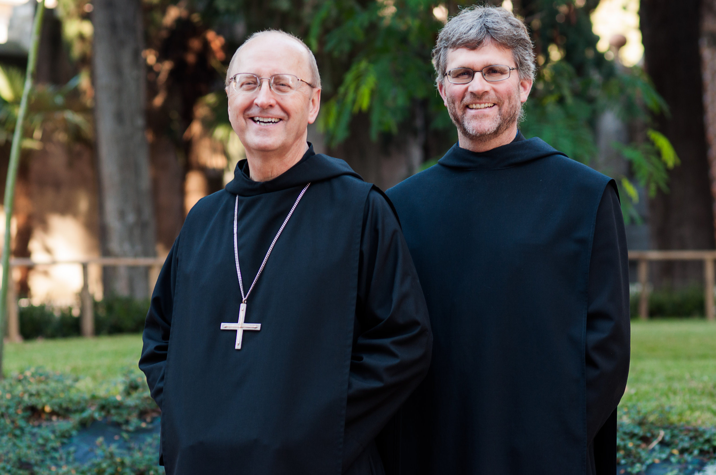 Abbot Primate Gregory Polan, OSB (from Conception Abbey) with Fr. Prior Mauritius Wilde, OSB