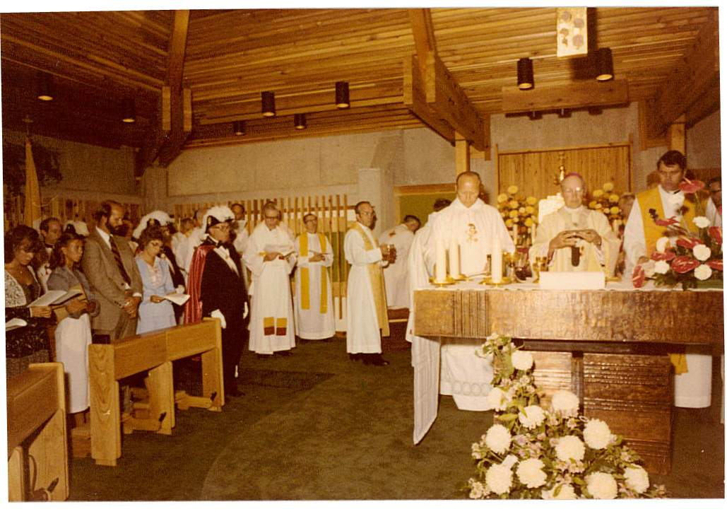 Fr. Volker Futter concelebrating Mass with Archbishop Sheehan