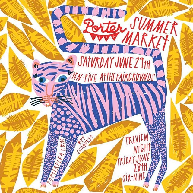 Don't forget that @porterflea Summer Market is NEXT WEEKEND! We will be there with @heikamppinen again this year and couldn't be more excited! Looking forward to seeing all of your beautiful faces there! 💜