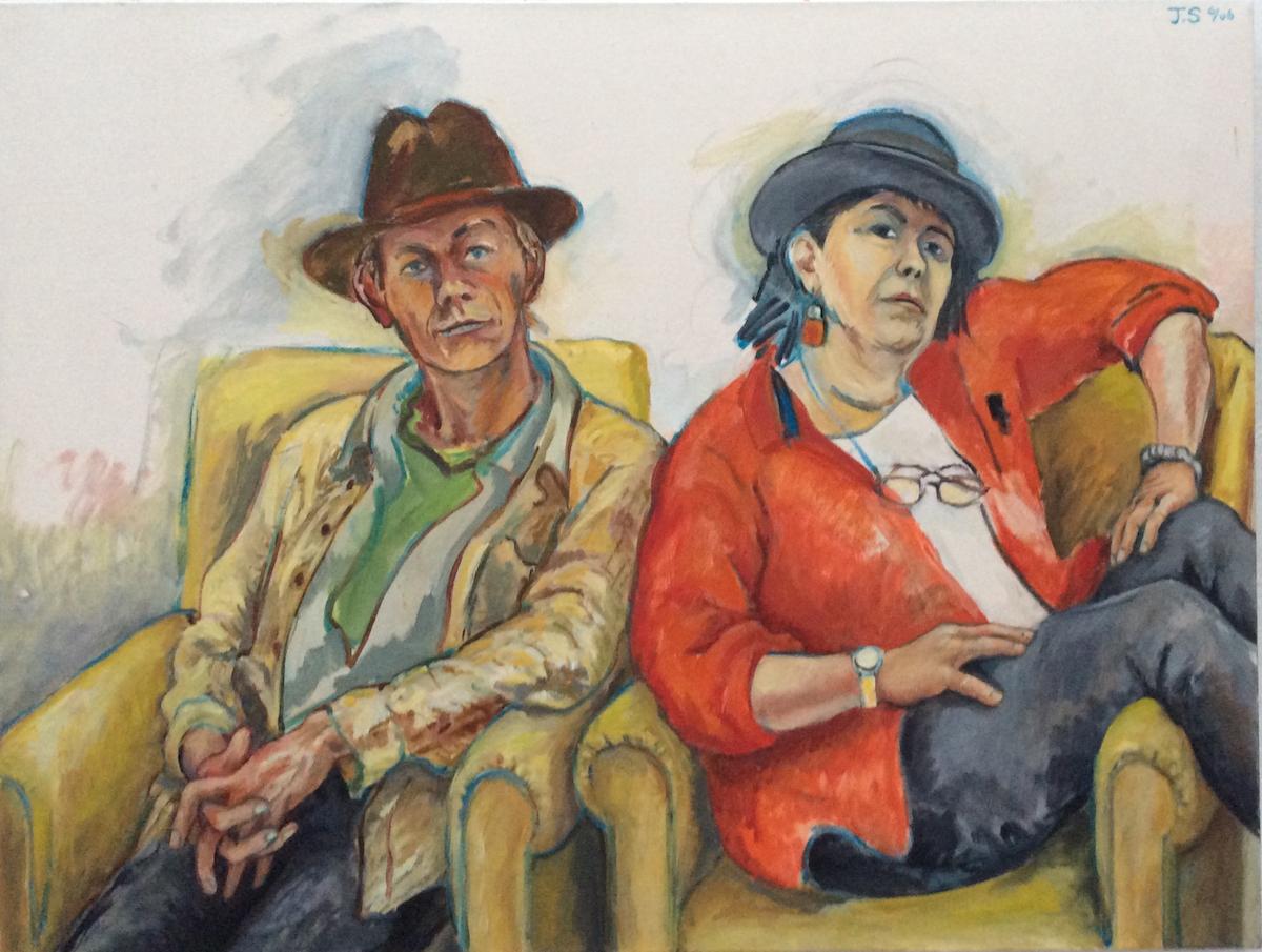 """Phil & Linda  '06   41x54""""  o/c"""