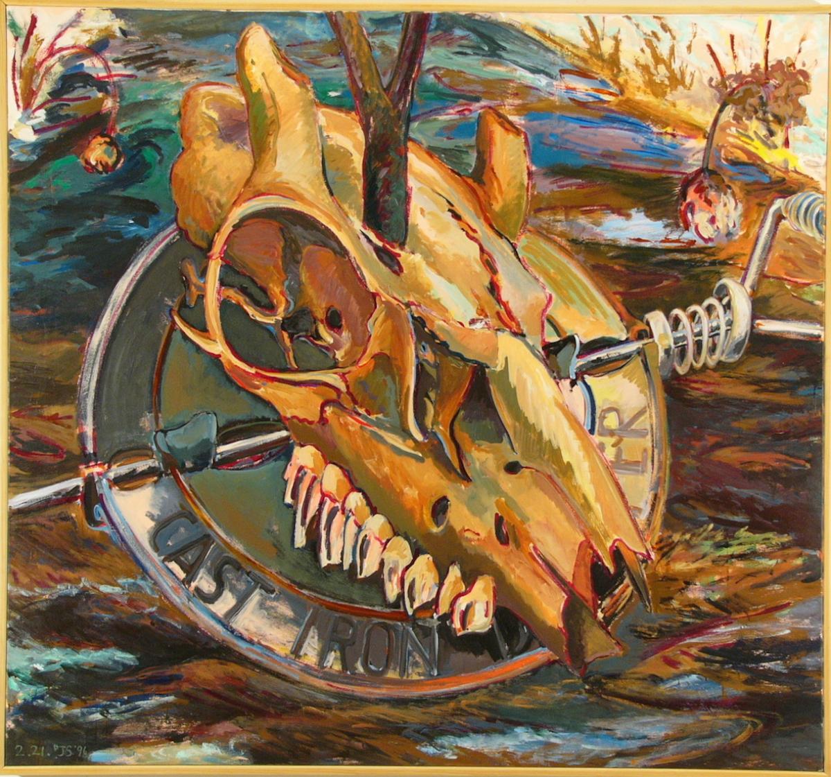 """Iron Skull   '96  63"""" x 68"""" ac/c"""