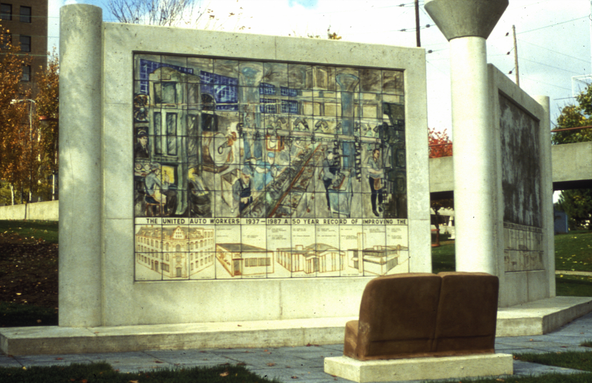 Mural C.  1950s Engine Plant/ Union Halls