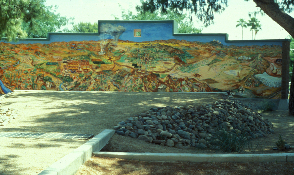 PHX. History of Phx Mural & amphith. mound.