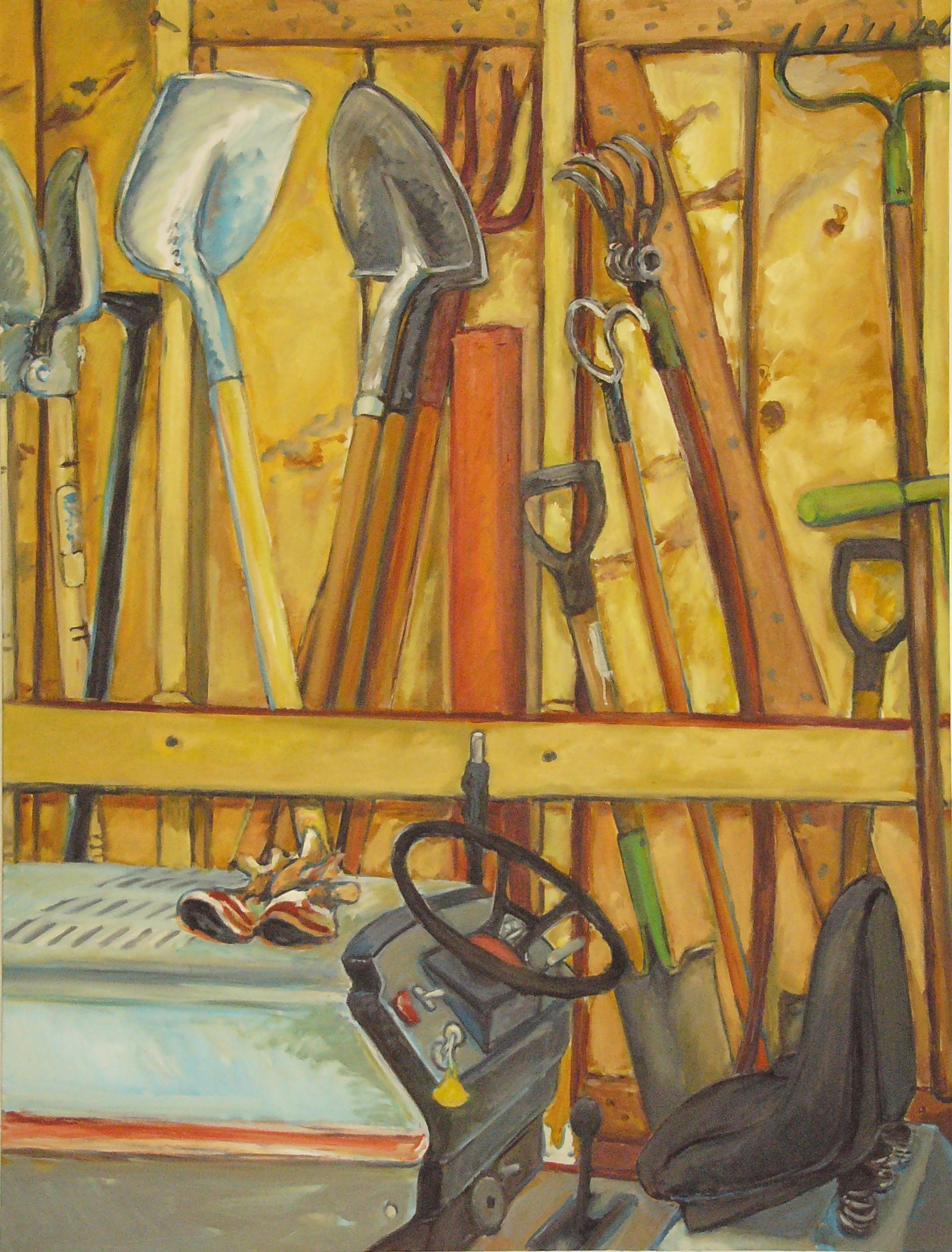"""Tool Shed '06  54"""" x 41""""  oil/c"""