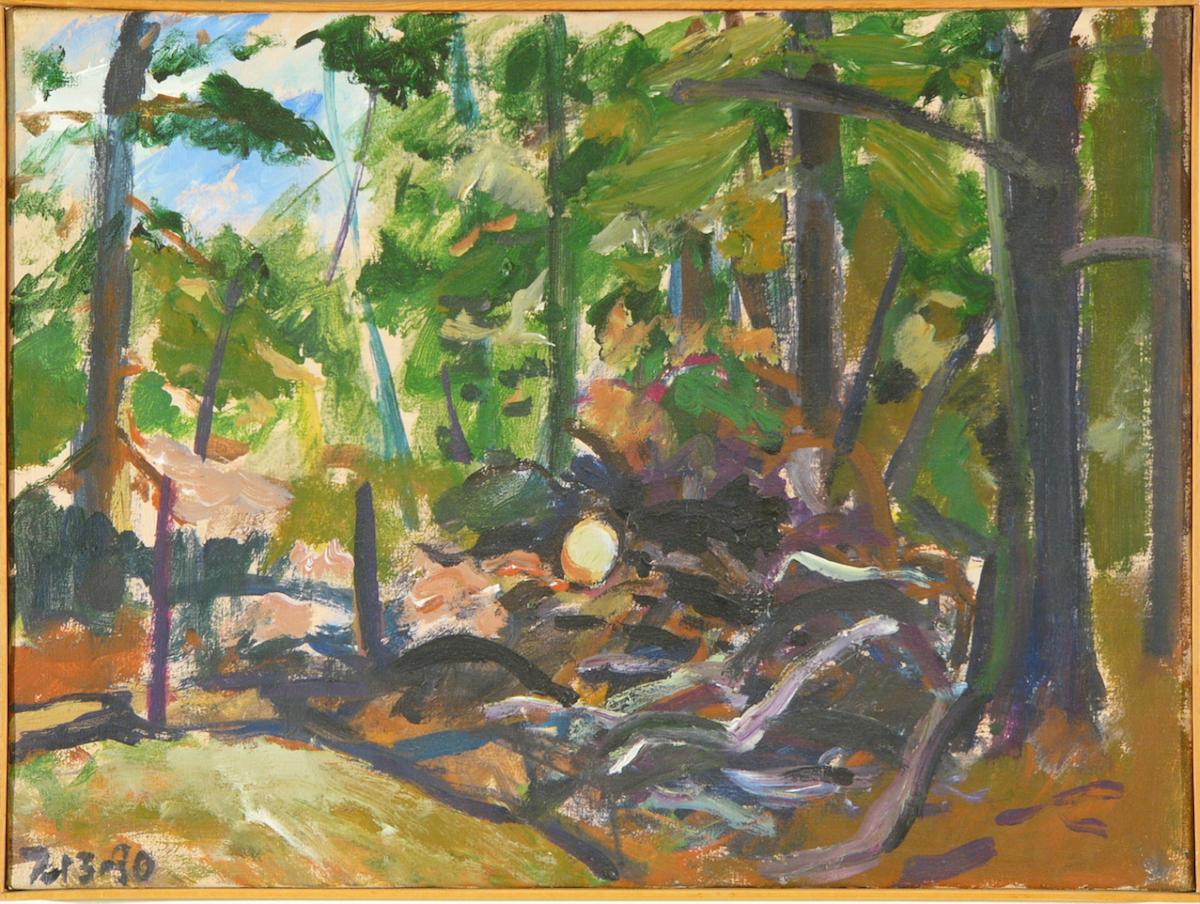 """Kline Farm - Cut Woods '80 18x24"""" ac/c"""