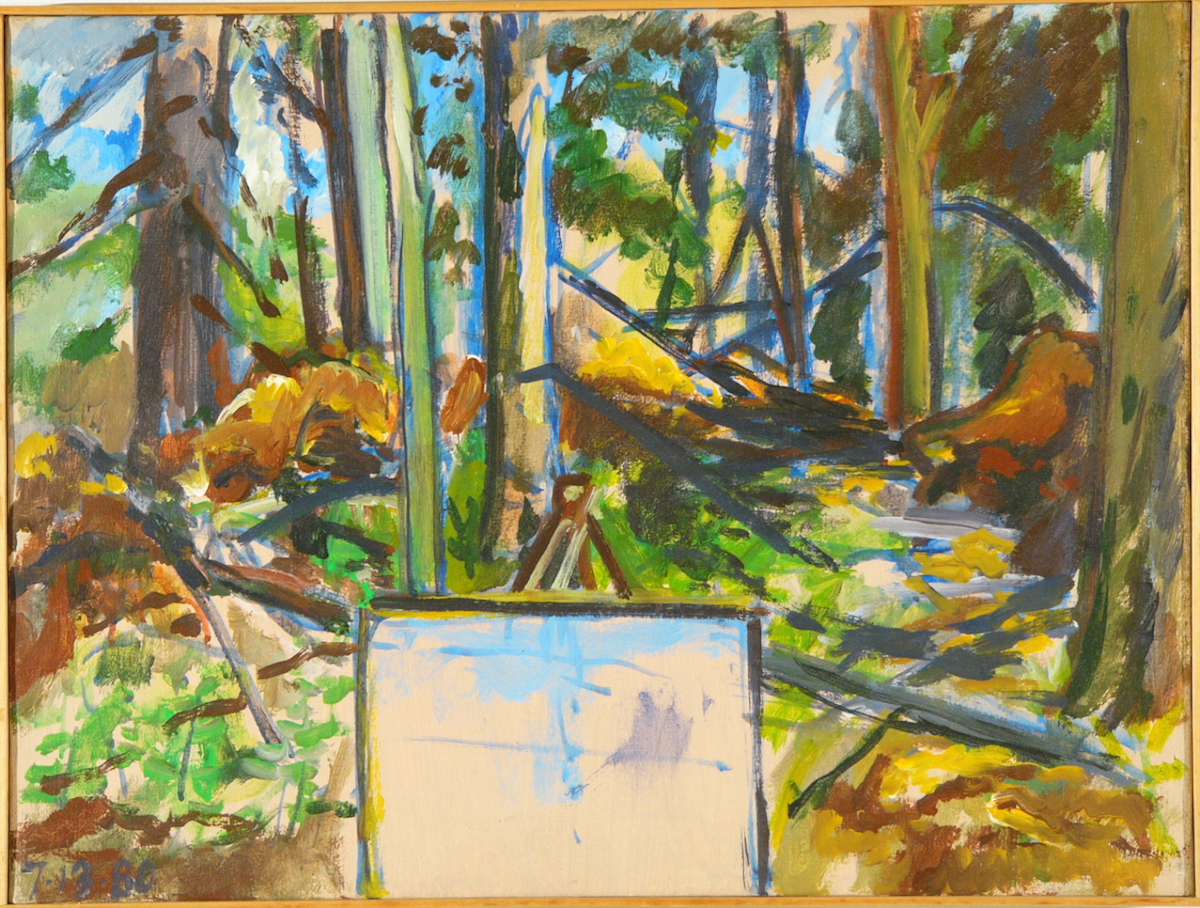 """Kline Farm. Ptg Woods '80 18x24"""" ac/c"""