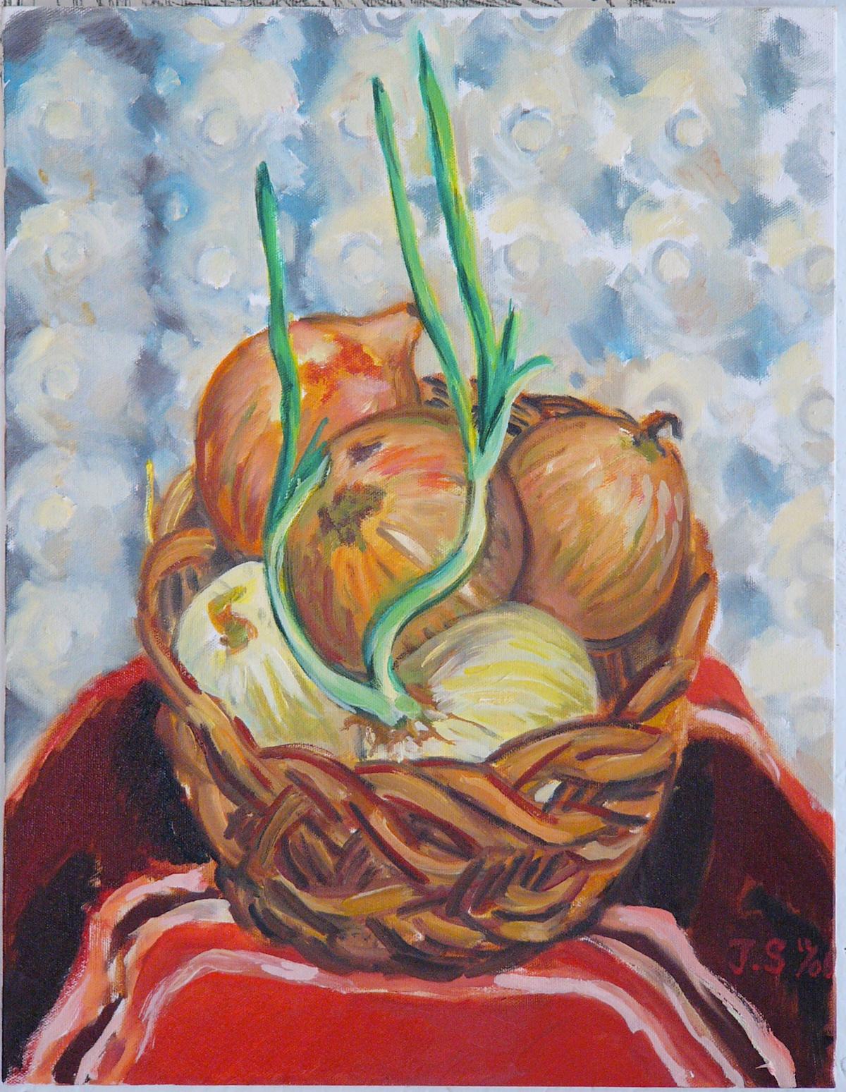 """Rising Onions '08  24x18""""  o/c"""