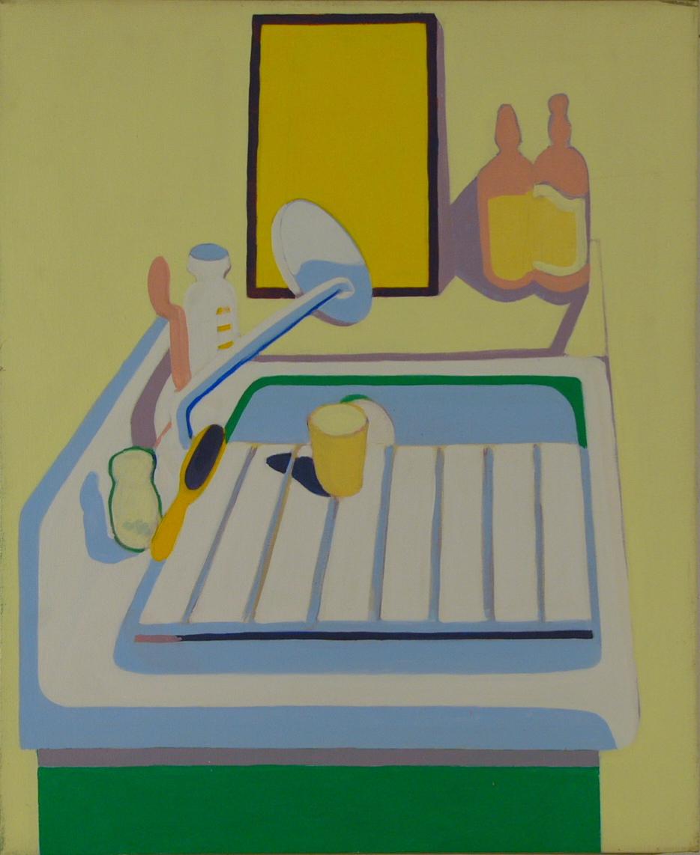 """NYC. Loft Sink '67 34x28"""" o/c"""