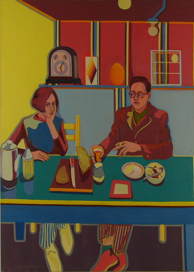 """NYC. Ellen & Dick '67 80x57"""" o/c"""