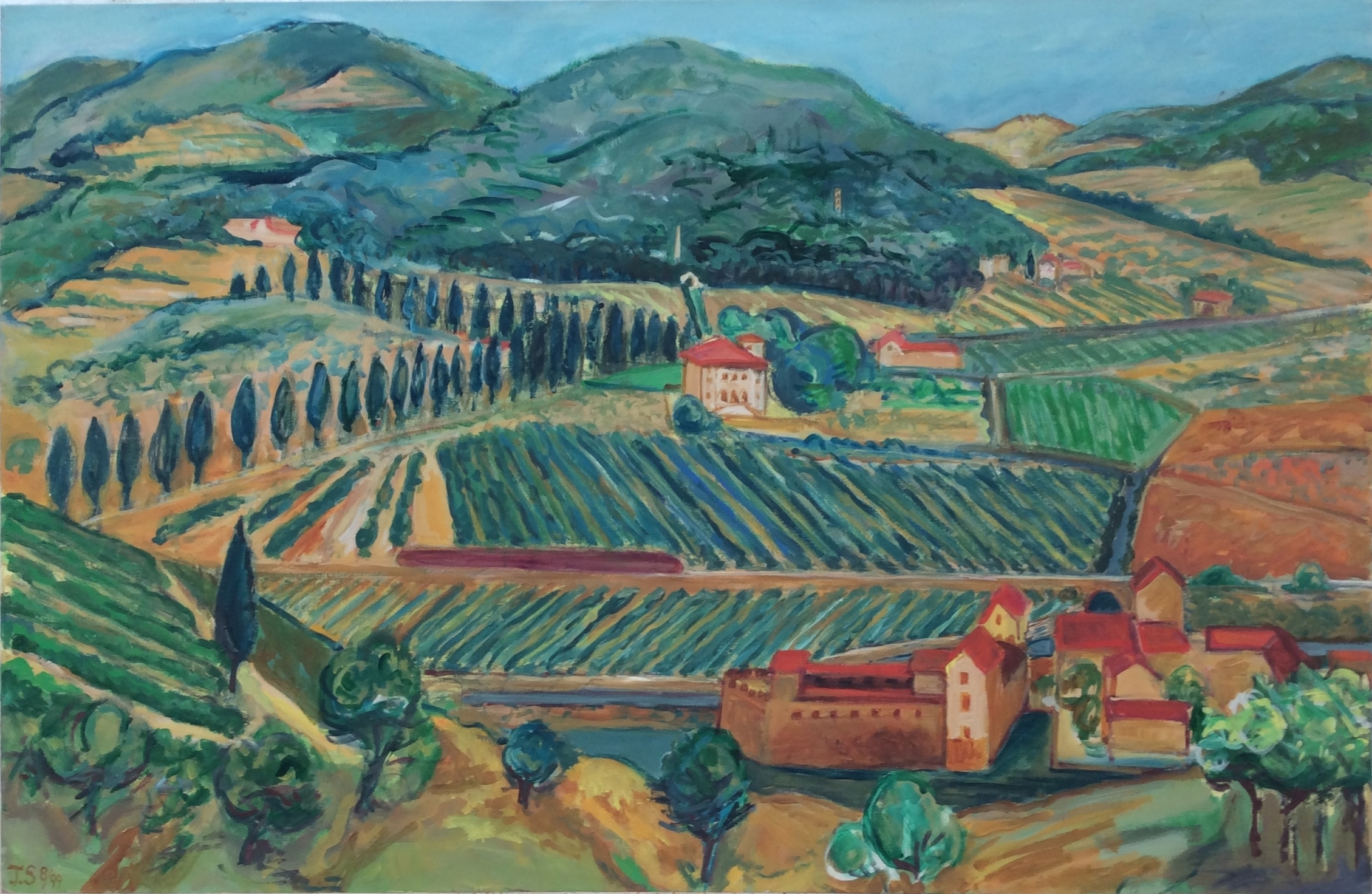 """N. of Florence '99  47x60""""  ac/c"""
