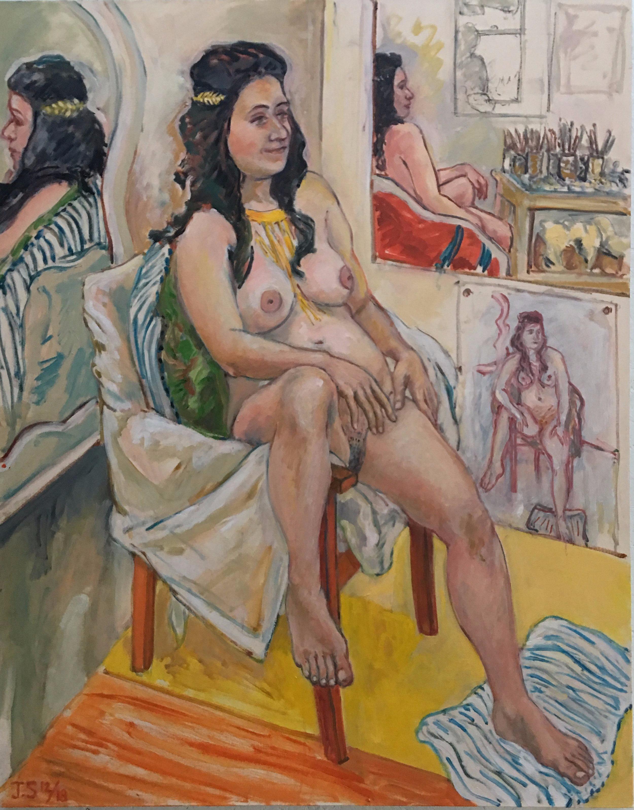 """Katalin x4  11/'18  58x42""""  oil/c"""