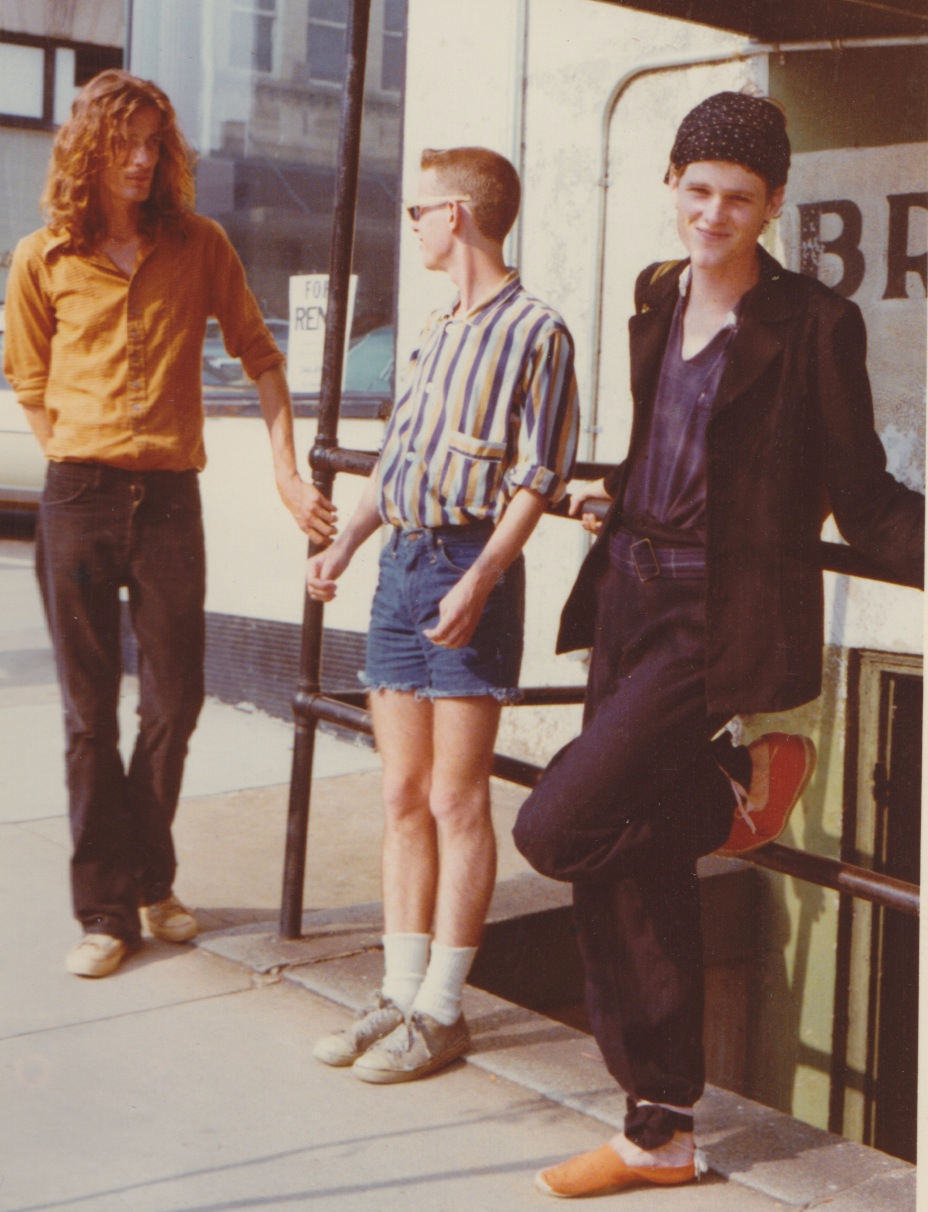 Larry Johnson, Ricky Wilson, and Keith Strickland 1976 by Cindy Wilson