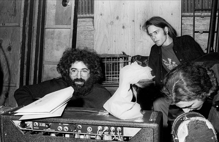 Jerry Garcia and Bob Weir Backstage at the Fillmore East, 1970 Amelie R. Rothschild