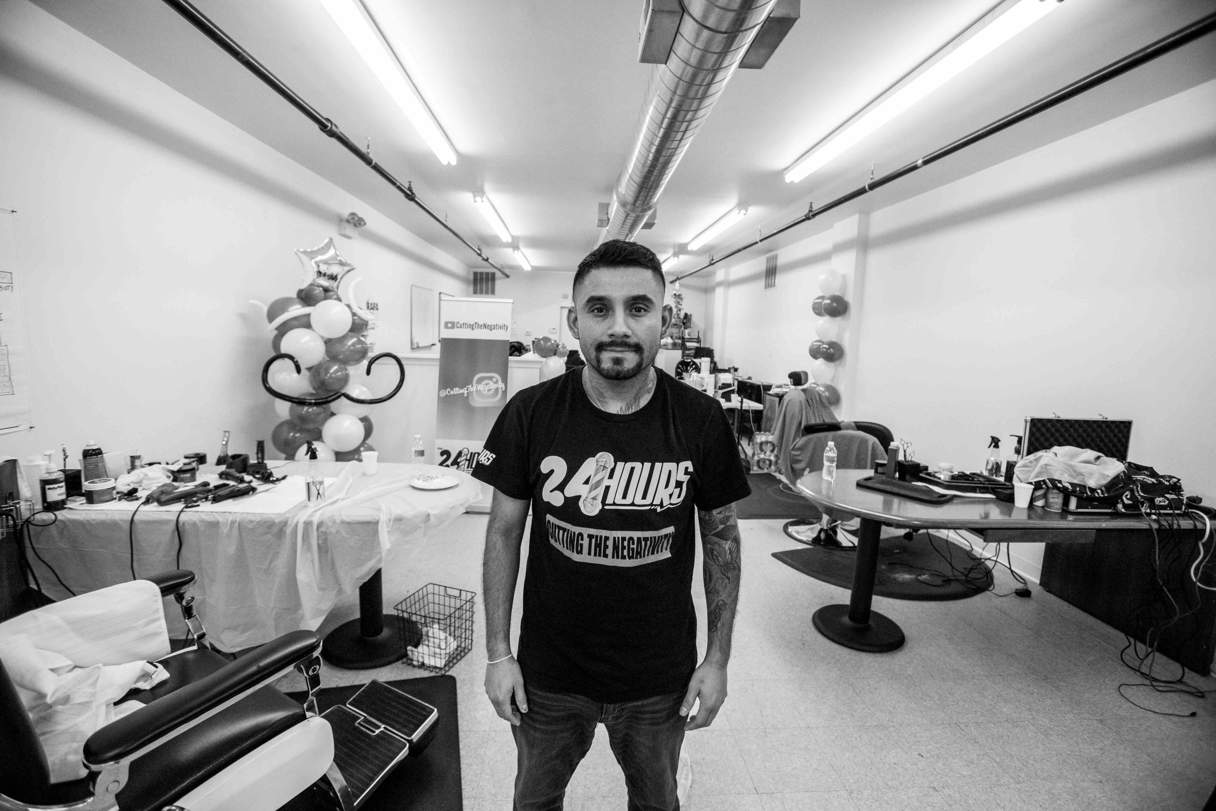 Since becoming a shop owner of Seven26, located in Cicero, one of the few Latino communities near Chicago, Juan Acevedo has taken on the challenge to influence with positivity and encourage other barbers across Chicago to do the same in their communities. In 2014, Juan launched the very first 24 hour Chicago barber charity event,  #CuttingtheNegativity , which helped fund his former elementary school.  He created the event to challenge local barbers to donate their time and money by cutting hair for free. For almost five years, Juan and his no negativity movement have traveled across the country, asking barbers to put their egos and wallets aside and cut hair out of love. Due to violent headlines in Chicago he decided to bring  #CuttingtheNegativity  back home. The Latino business owner has set a new goal for himself, to make the barber charity event more than just a hashtag.