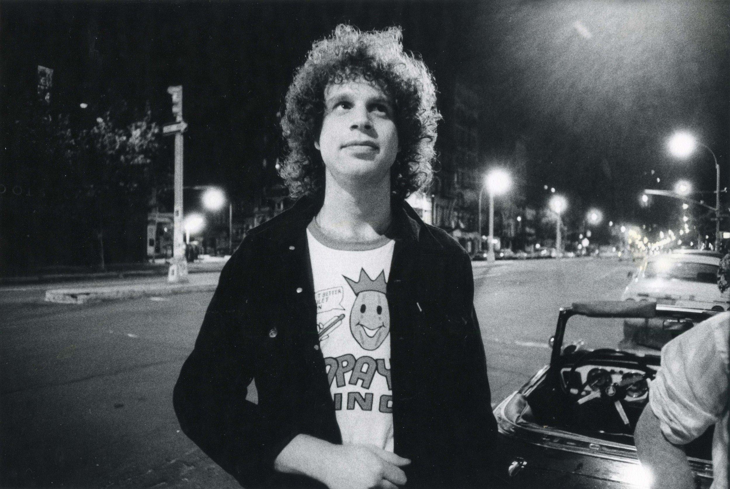 David Godlis outside CBGB's 1977