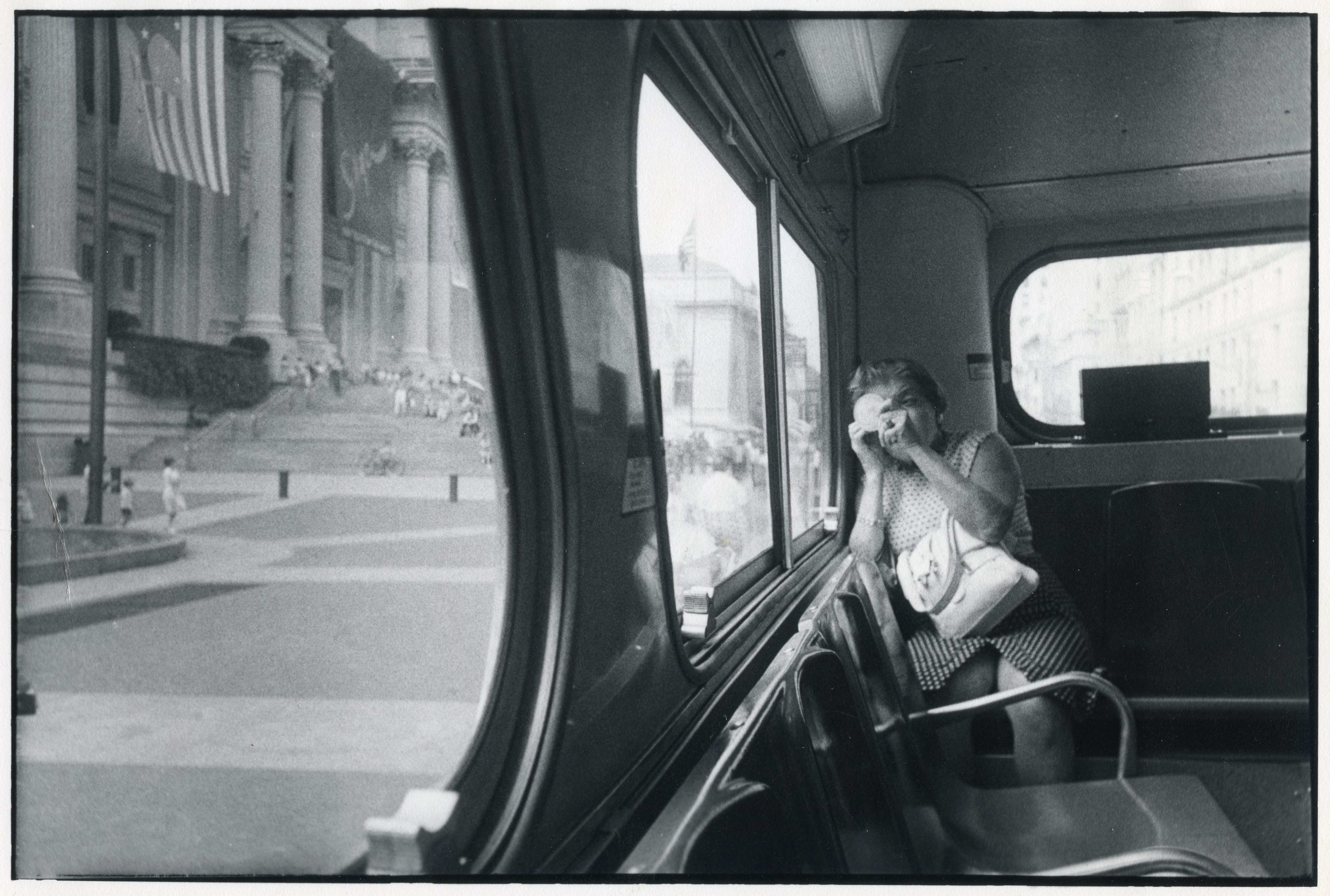 Lady On Bus, New York 1976