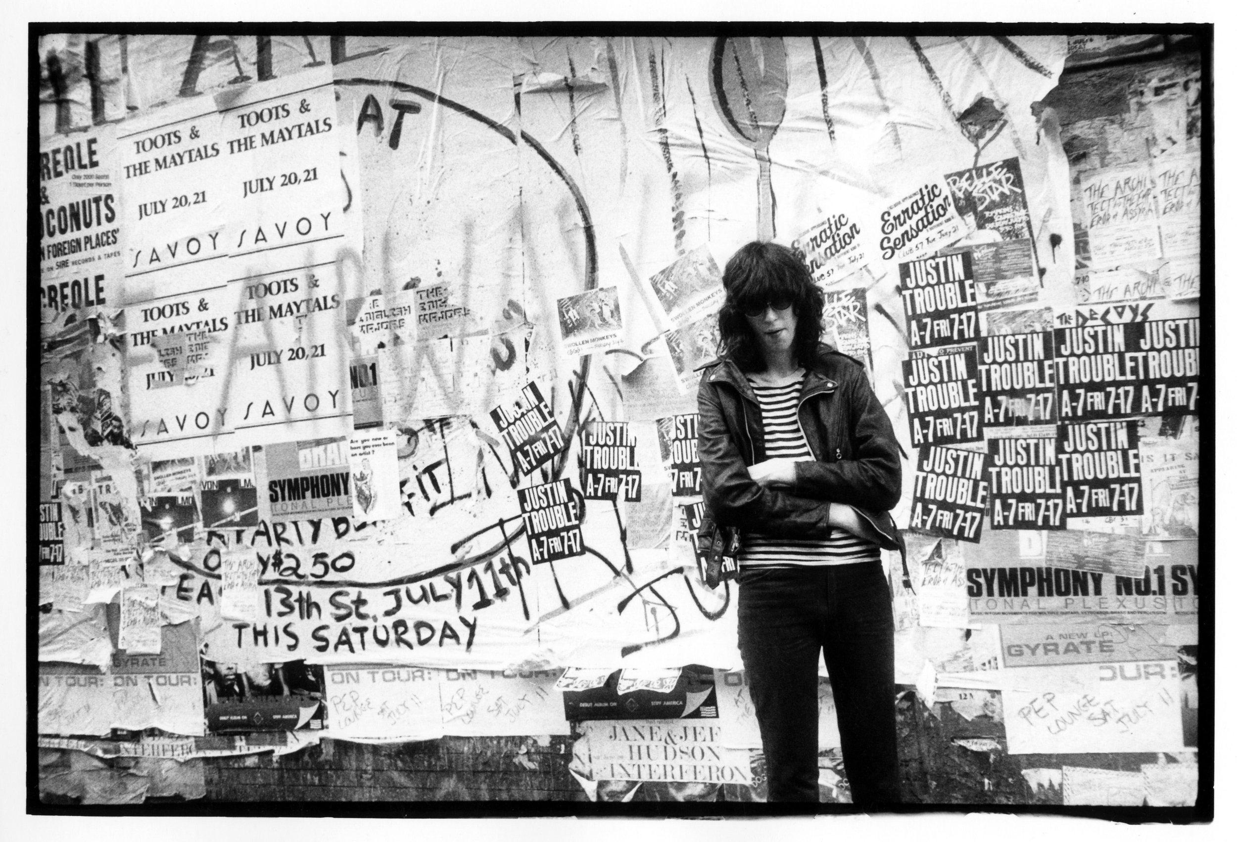 Joey Ramone, St. Mark's Place, 1982