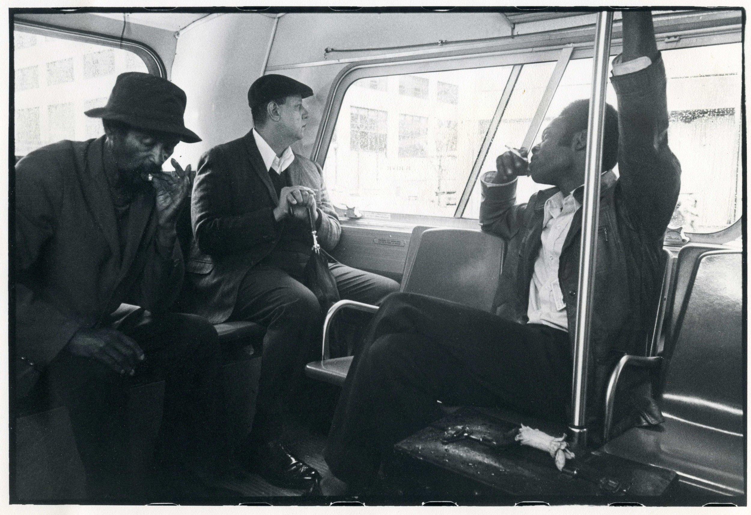 Men On Bus, New York City 1976