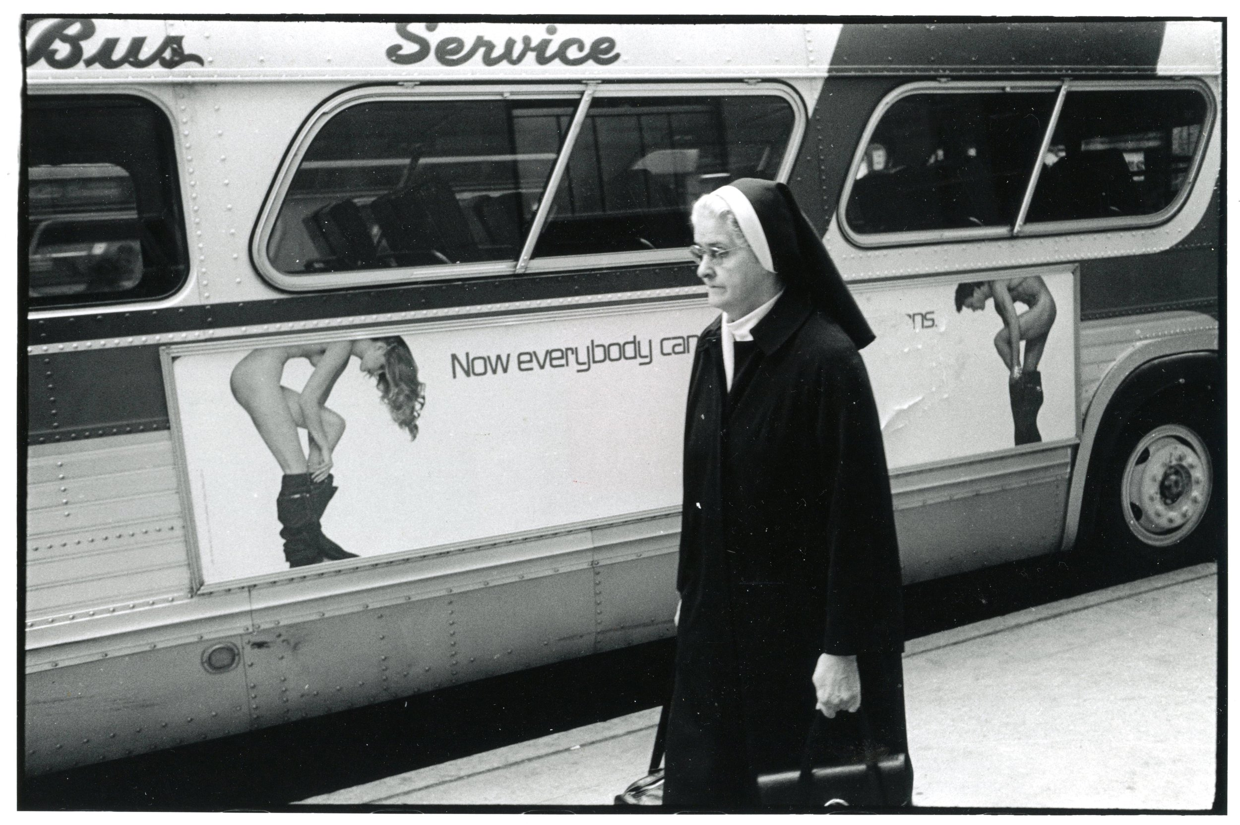 Nun and Bus, New York, 1979